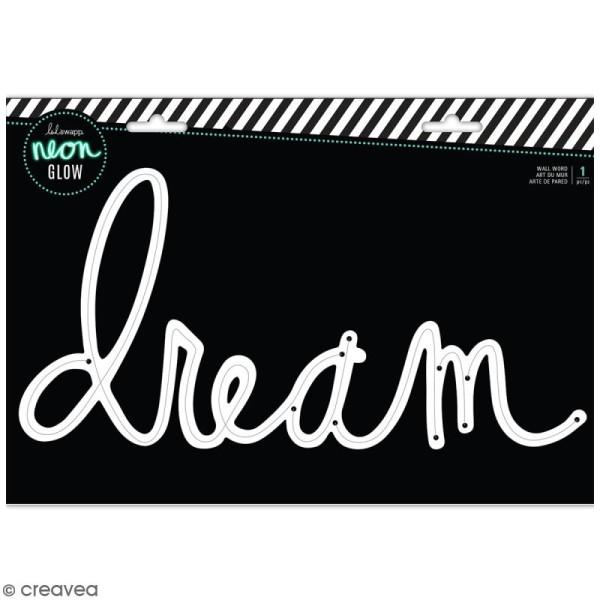 Support pour cordon mural néon - Dream - 35 x 18,5 cm - Photo n°1