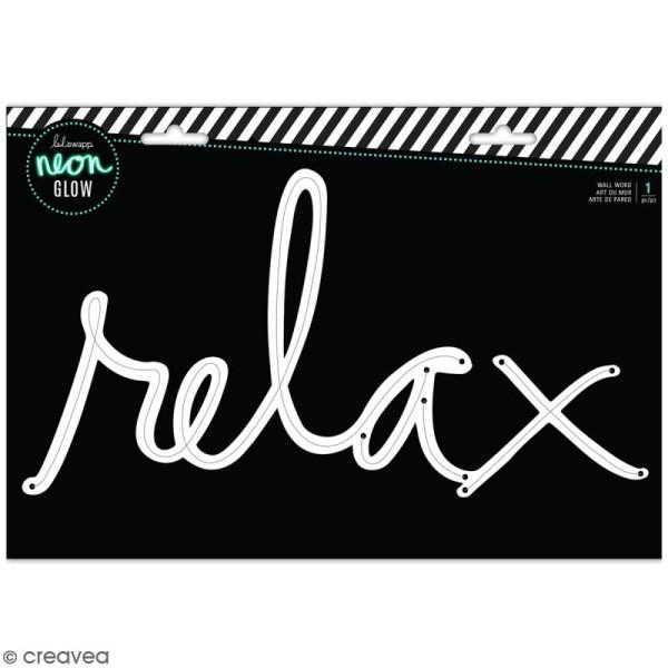 Support pour cordon mural néon - Relax - 34 x 18 cm - Photo n°1