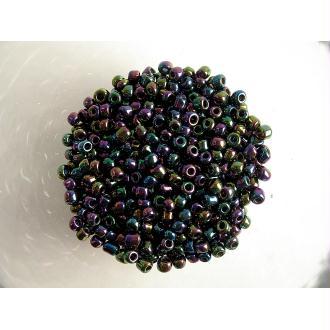 10G Perles Rocaille Violet Pourpre Ab 6/0 (4Mm)