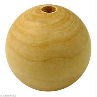 Perle en bois d'érable 45 mm x 10