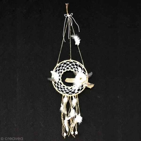 Plume d'indien blanche 30 cm x 10 - Photo n°3