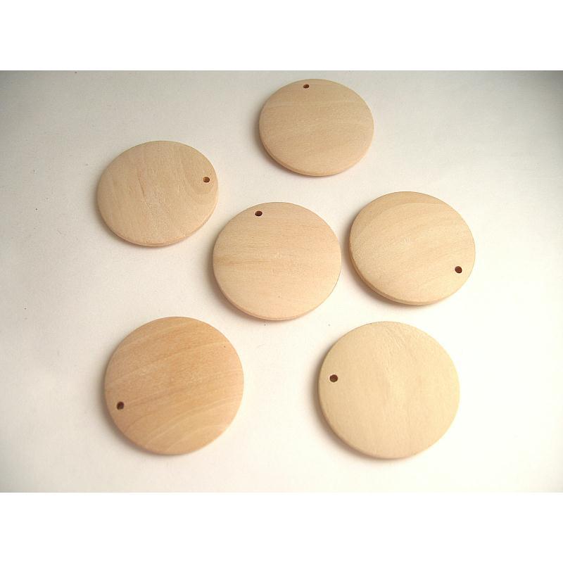 12 perles pastille bois naturel 28x5mm perles bois creavea. Black Bedroom Furniture Sets. Home Design Ideas