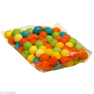 Boule de cellulose Multicolore 2,5 cm x 100