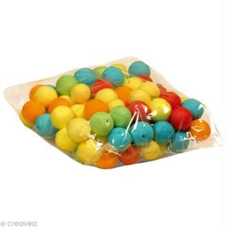 Boule de cellulose Multicolore 3 cm x 100