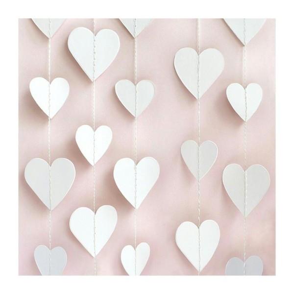 Lot de 20 serviettes en papier motif Coeur sur fond Rose doux, 33 x 33 cm, fête et baby shower - Photo n°1
