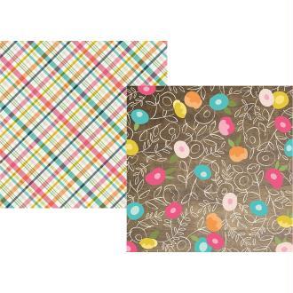 Papier à motifs recto verso 32x32cm Crafty girl Live. Love. Create. Simple Stories