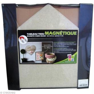 Tableau magnétique tissu Maison 40 x 40 cm
