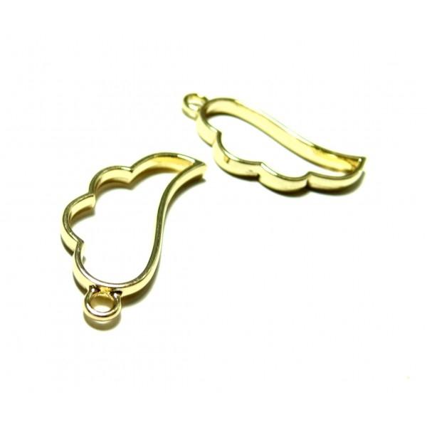 4 breloques pendentifs breloques AILE d' Ange OR 36mm pour Créations Résine Fimo H4727E - Photo n°1