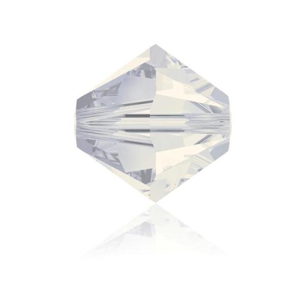 Toupie 4 mm Swarovski white opal x10 - Photo n°1