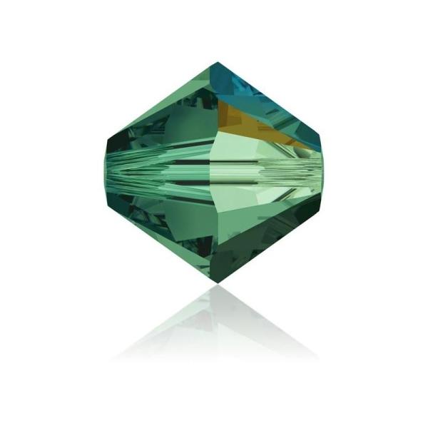 Toupie 4 mm Swarovski emerald AB x10 - Photo n°1