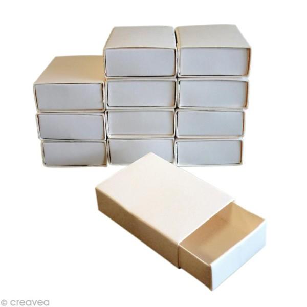 Boîtes format allumettes vide - 5,3 x 3,6 x 1,5 cm - 12 pcs - Photo n°1