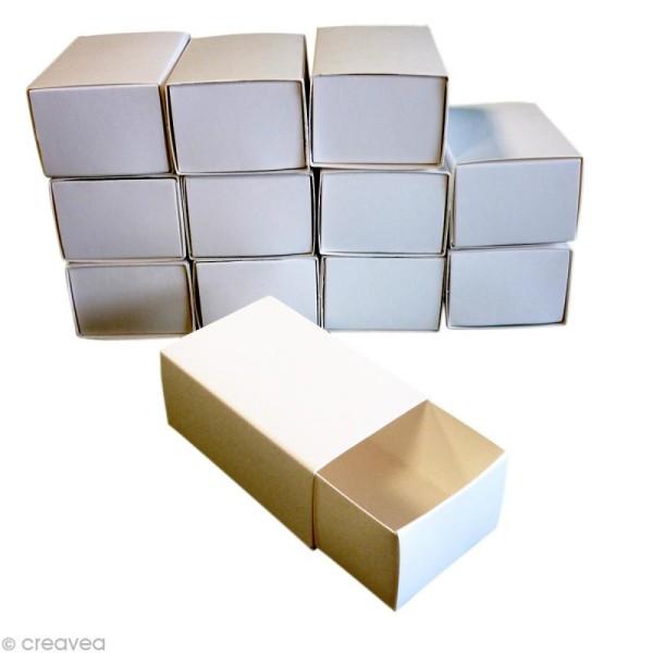 Boîtes format allumettes vide - 8 x 5 x 3,5 cm - 12 pcs - Photo n°1