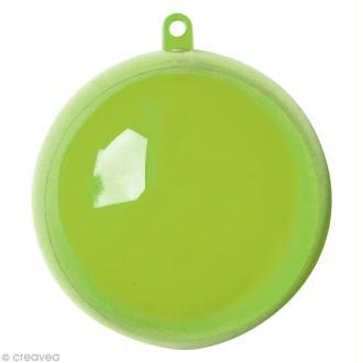 Boule plastique cristal Vert anis pour contact alimentaire - 5 cm x 5