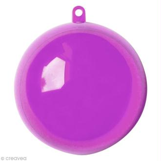 Boule plastique cristal Violet pour contact alimentaire - 5 cm x 5