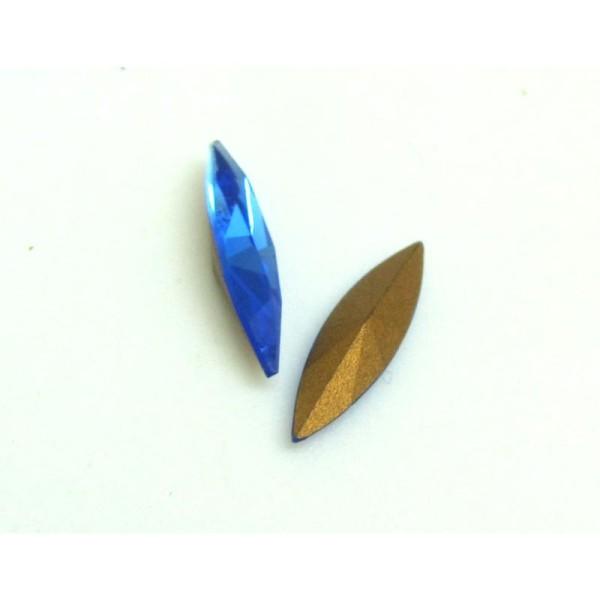 F 9 SA *** 100 perles de Bohème FACETTES 9 mm SAPPHIRE