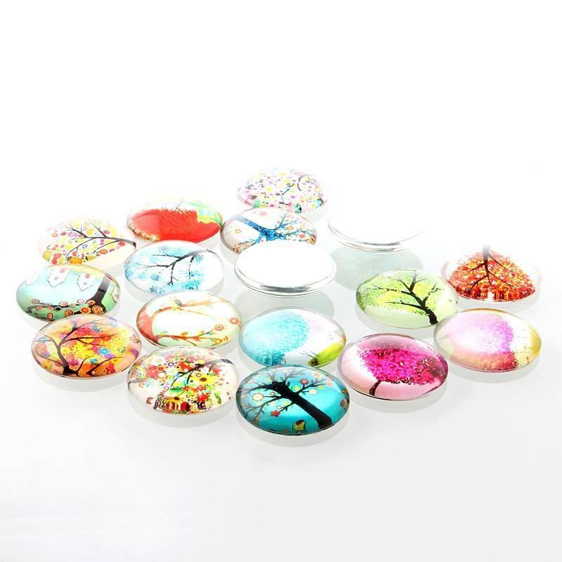 Cabochons pour bijoux en verre forme ronde accessoires for Carrelage en verre pour cuisine
