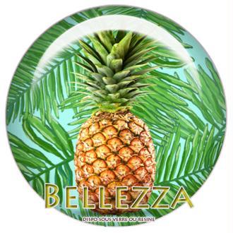 Cabochon en résine 25mm, Ananas, tropical, exotique