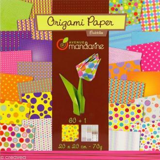 Origami 20 x 20 cm - Bubbles x 60 papiers