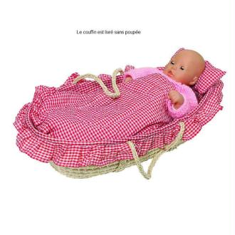 Couffin pour poupée avec linge de lit
