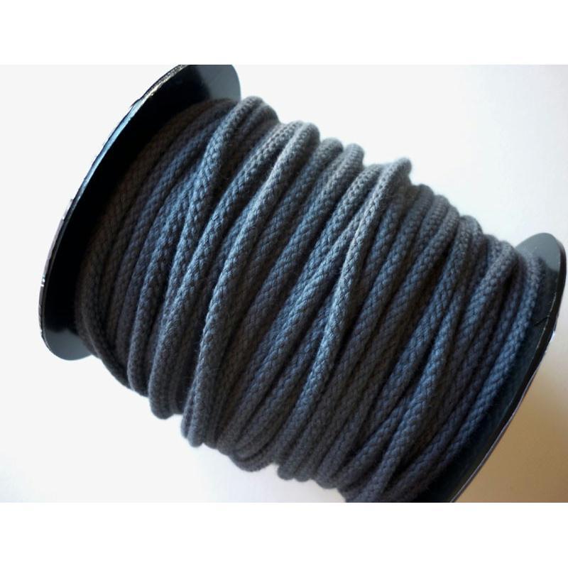 corde coton 5mm gris fonc macram bijoux couture au m tre cordon tress creavea. Black Bedroom Furniture Sets. Home Design Ideas
