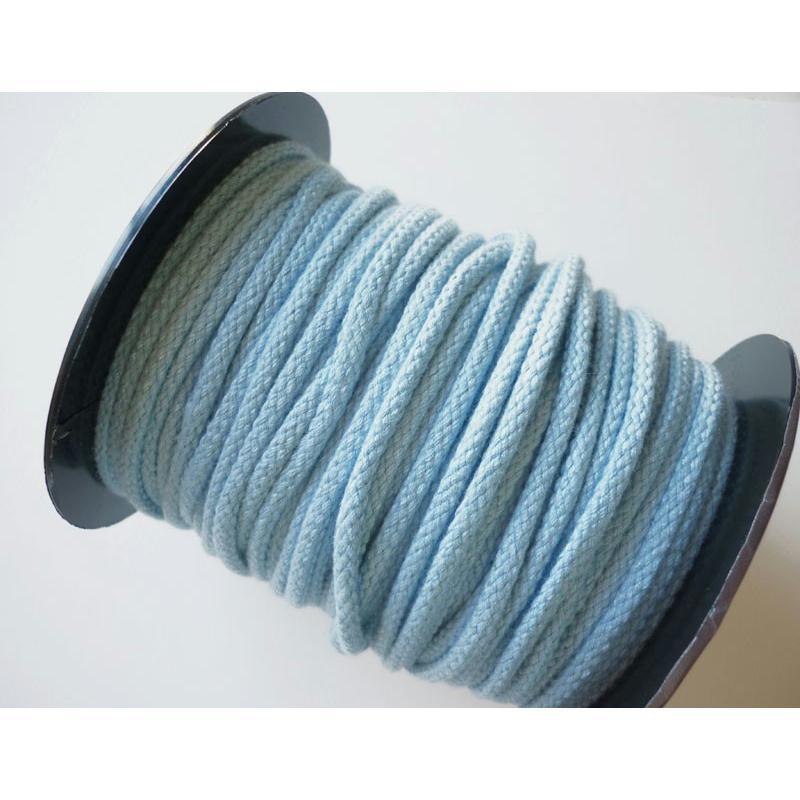 corde coton 5 mm bleu ciel couture macram au m tre. Black Bedroom Furniture Sets. Home Design Ideas