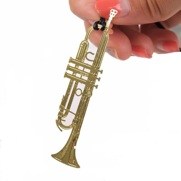 Marque pages en métal doré saxophone - Photo n°1
