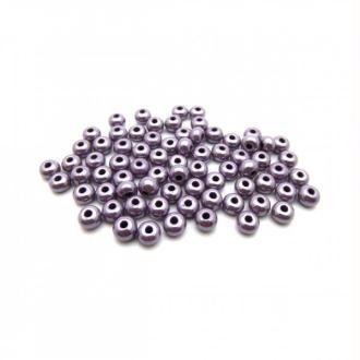 Perles de rocailles lustré 4/0 - 5mm améthyste 15g  - Europe