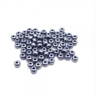 Perles de rocailles lustré 4/0 - 5mm noir hématite 15g - Europe