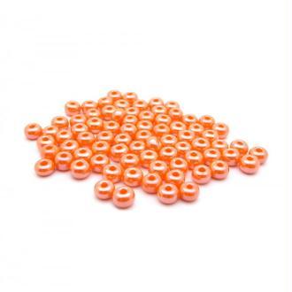 Perles de rocailles lustré 4/0 - 5mm orange 15g - Europe