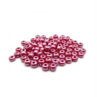 Perles de rocailles lustré 4/0 - 5mm rouge 15g - Europe