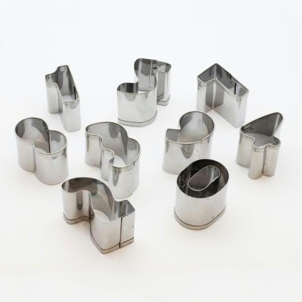 Emporte-pièces Chiffres X9pcs- Outils Découpe Pâte Polymère Fimo - Photo n°1