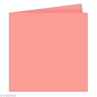 Papier Pollen carte double 160 x 160 Litchi x 25