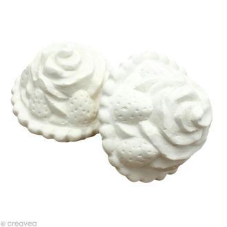 Forme en plâtre - Gourmandise Tartelette fraise 4 cm