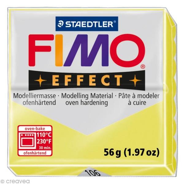 Pâte Fimo Effect Jaune citrine 106 - 56 gr - Photo n°1