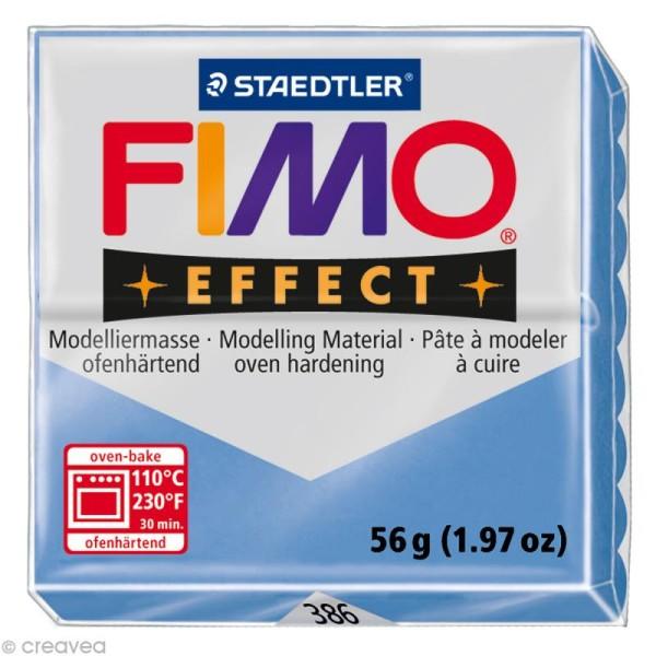 Pâte Fimo Effect Bleu agate 386 - 56 gr - Photo n°1