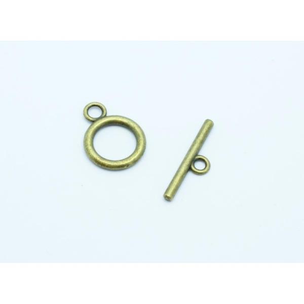 2 Fermoirs Toggle Bronze 14x19mm - Fermoir En T - Photo n°1