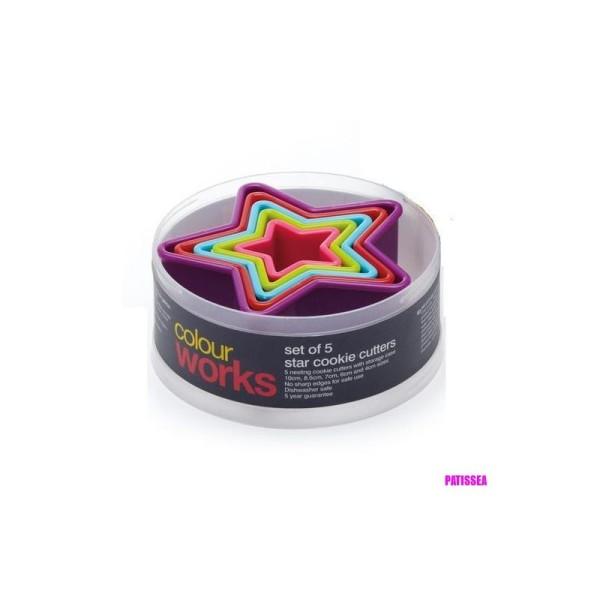 Emporte-pièces étoiles Colourworks x5 - Photo n°1