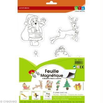 Feuille magnétique à découper - Noël - 1 feuille 4