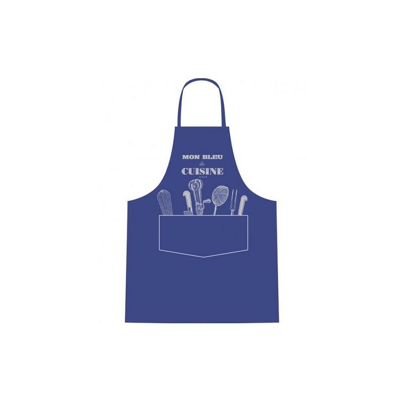 Tablier mon bleu de cuisine tablier cuisine creavea for Appareil de cuisine qui fait tout