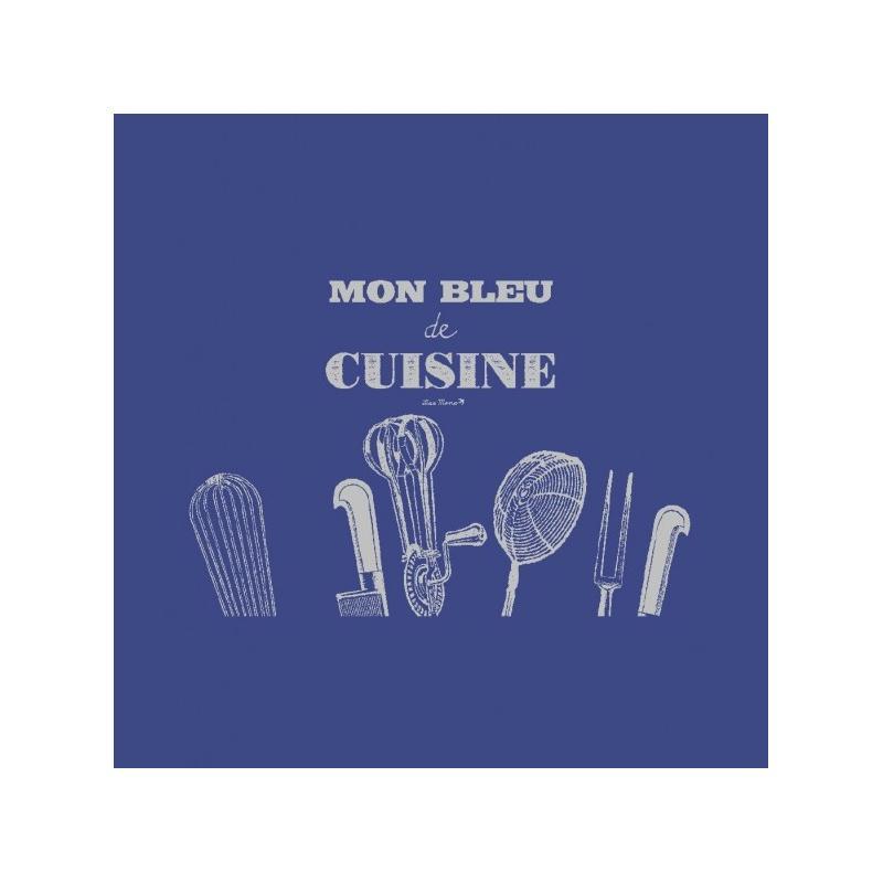 Tablier mon bleu de cuisine tablier cuisine creavea for Art de cuisine de sihem