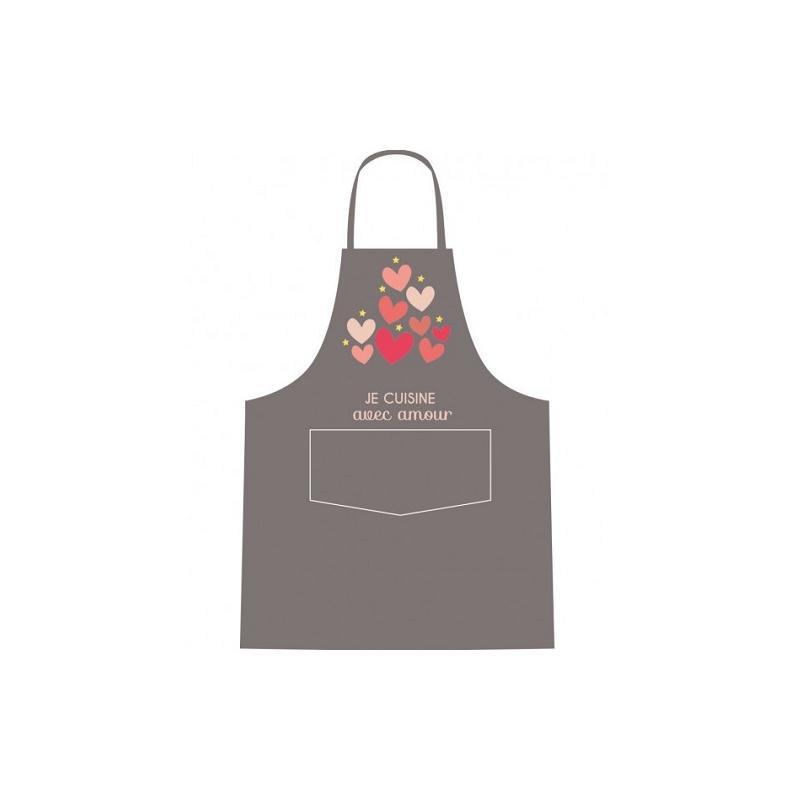 tablier je cuisine avec amour tablier cuisine creavea