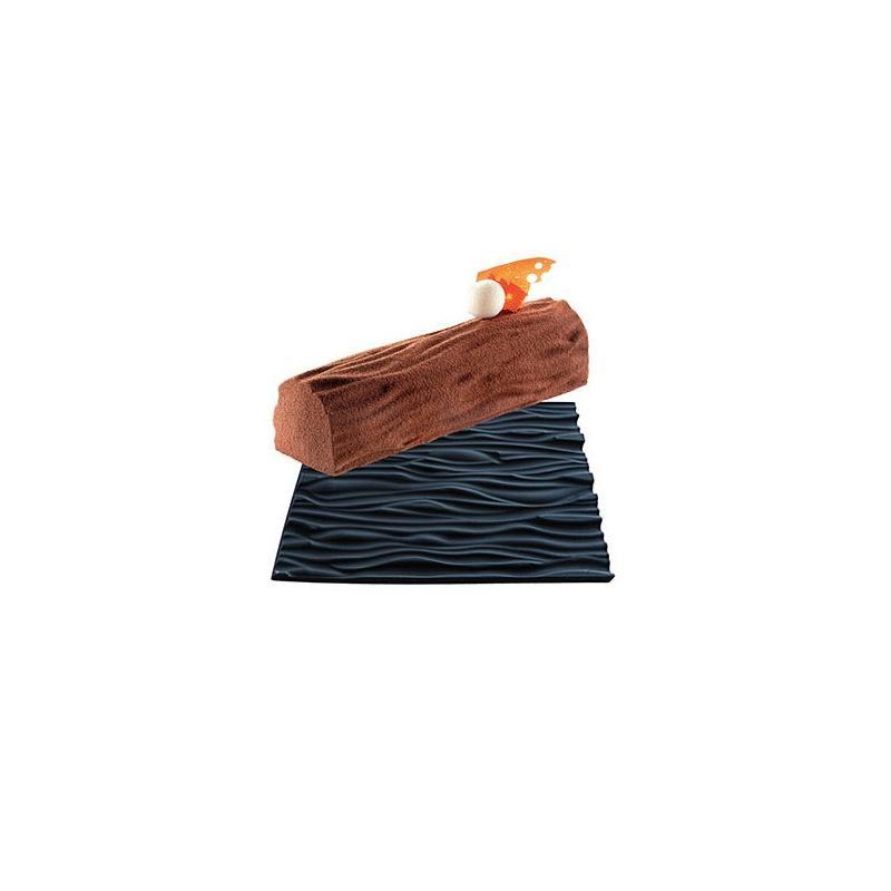Tapis wood pour b che de no l effet bois moule silicone - Tapis de cuisine cupcake ...