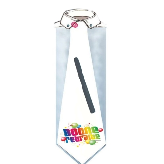 Cravate 60 cm femme bonne retraite à dédicacer (stylo inclus) - TU