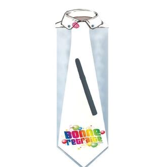 Cravate 60 cm homme bonne retraite à dédicacer (stylo inclus)