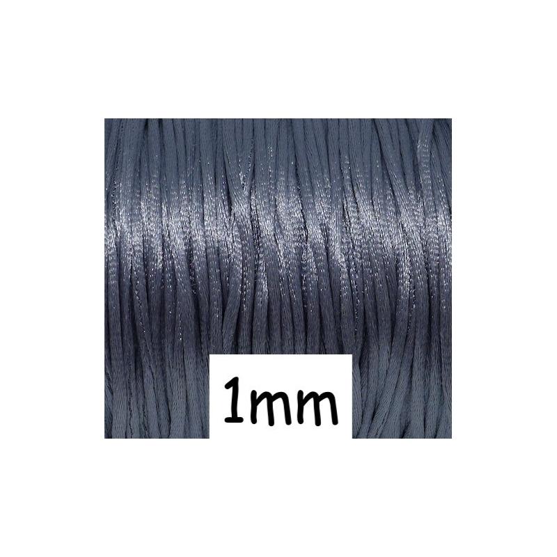 10m cordon queue de rat 1mm gris ardoise brillant satin for Ardoise pour cuisine