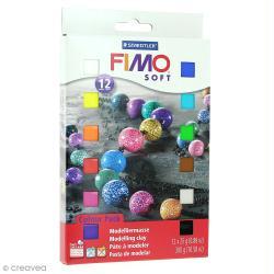 Coffret Fimo Soft - 12 demi pains