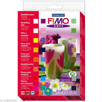 Coffret Fimo Soft - 24 demi pains