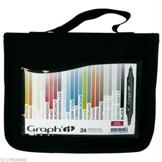Assortiment Feutre à alcool Graph'it Basic colors x 24