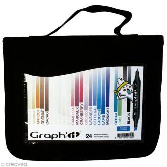 Assortiment Feutre à alcool Graph'it Manga colors x 24