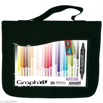 Assortiment Feutre à alcool Graph'it Scrap & cards colors x 24